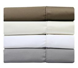 Solid Ivory Split-Top -King: Adjustable King Bed Size Sheets