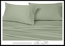 Royal's Solid Sage 1000-Thread-Count 4pc California-King Bed