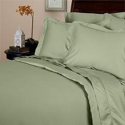 Solid Sage Percale King Size Sheet Set 100 % Cotton  300 Thr