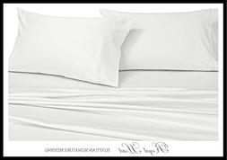 Royal's Solid White 1000 Thread Count 5pc Split-King: Adjust