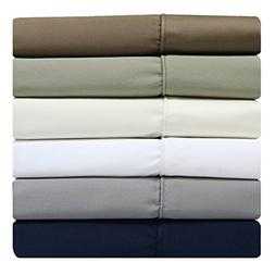 sheetsnthings Solid 300TC, 100% Cotton Split-Top-King Size