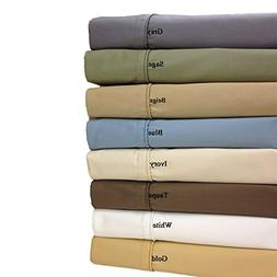 Top-Split-King: Adjustable King Size Taupe 650-Thread-Count