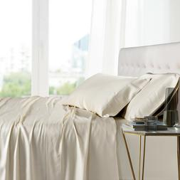Split Cal-King Bed Sheet Set- 100% Bamboo Ultra Cool Soft 5P