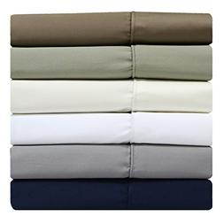 Split Top California King, Solid Blue  600 Thread Count, 4PC