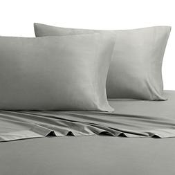 Split-King Gray Silky Soft sheets 100% Viscose from Bamboo S