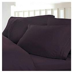 Split King Size Plum Purple 1800 Thread Count Egyptian Sheet