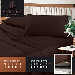 Premium King Sheets Set - Dark Brown Chocolate Hotel Luxury