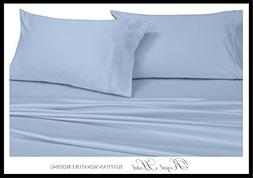 SPLIT-KING : Adjustable King Blue Silky Soft sheets 100% Vis