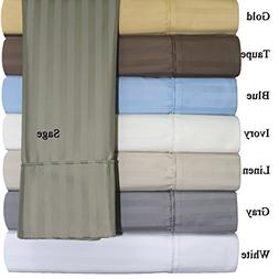 California-King  Cotton-Blend Wrinkle-Free Sheets 650-Thread