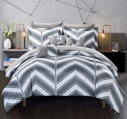 Chic Home 10 Piece Surfer Chevron and Geometric printed REVE