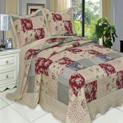 """TANIA King/ Cal King Size, Over-Sized Quilt 3pc set 110""""x96"""""""