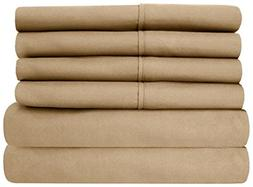 aashirainwear Taupe Solid RV King Size Ultra Soft 6 PCs Bed