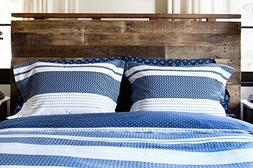 Thread Experiment Textured Chevron Comforter Set for Men, Na