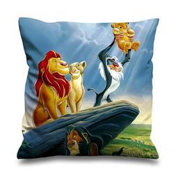"THE LION KING SIMBA MUFASA Throw Zippered Pillow Case 16"" 18"