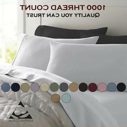Feel Luxury Comfort 1000 Thread Count 100% Egyptian Cotton S
