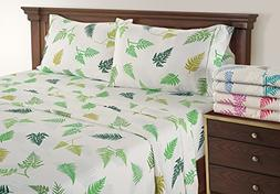 Linenwalas King Size Bed Sheets - Floral Pattern Toddler Bed
