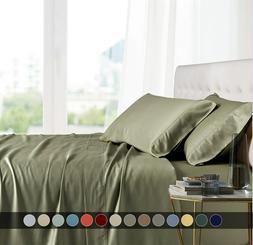 Split Top King Bed Sheet Set 100% Bamboo Viscose Head Split