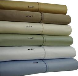 100% Cotton Top Split King Heavy Sheets 1000 Thread Count So