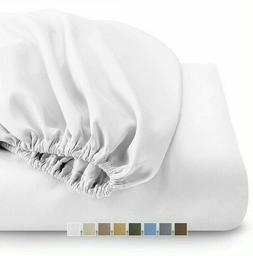 Top Split King Cotton Blend Solid Deep Pocket One Fitted Bot
