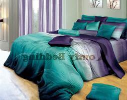 twilight design luxury 100% cotton bedding set: duvet cover
