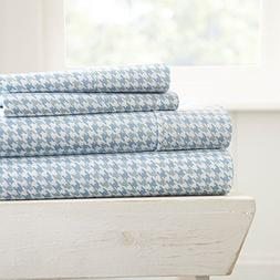 Premium Home Collection Ultra Soft Hounds Tooth Pattern 4 Pi
