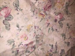 Vintage Ralph Lauren Francesca Floral King Fltted Sheet New