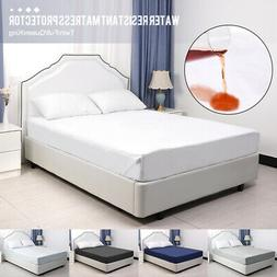 Extra Deep Mattress Bed Protector Topper Fitted Cover Single