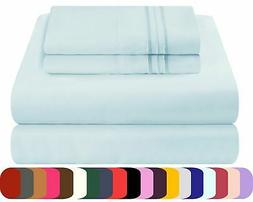 Mezzati Waterbed Sheets Set Soft and Comfortable Brushed Mic