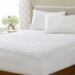 LINENSPA Waterproof Quilted Mattress Pad - Hypoallergenic Fi