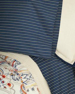 Ralph Lauren Wendell Stripe King  Pillowcases Navy/Ecru  MSR