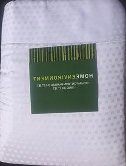 Home Environment White Dot King Sheet Set 100% Rayon from Ba