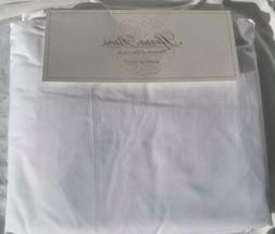 Sferra White King Percale Sheet Set 500 tc 100% Extra Long S