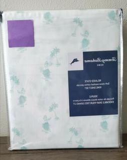 Tommy Bahama White Mint Green King Sheet Set WAIKIKI BEACH H