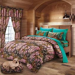 20 Lakes Woodland Hunter Camo Comforter, Sheet, & Pillowcase