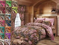 12 pc Pink Camo CAL King size Comforter, sheets, pillowcases