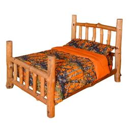 7 PC WOODS ORANGE CAMO COMFORTER AND SHEET SET KING SIZE! CA