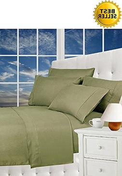 Elegance Linen Wrinkle Resistant Luxury 5-Piece Bed Sheet Se