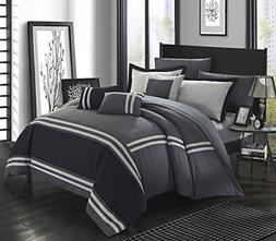Chic Home Zarah 10 Piece Bedding with Sheet Set and Decorati