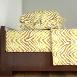 Zebra Gold Large Scale Metallic Wallpaper Cotton Sateen Shee
